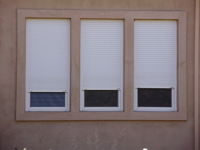 security windows with shutters